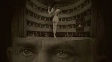 theaterstage with naked woman inside of Emporer Franz Jospeh's head